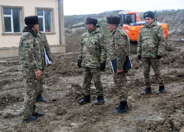 Minister of Defense inspected military facilities where the construction work is being completed