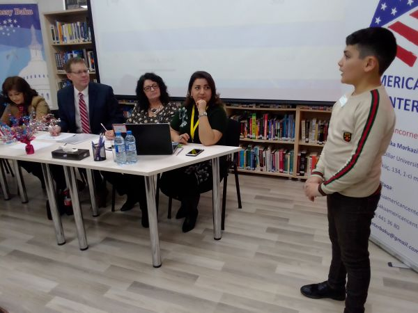 U.S. Embassy Holds National Spelling Bee Contest for Azerbaijani Students