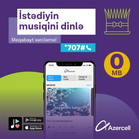 Mobile music with Zvuk has become unlimited for all Azercell subscribers!
