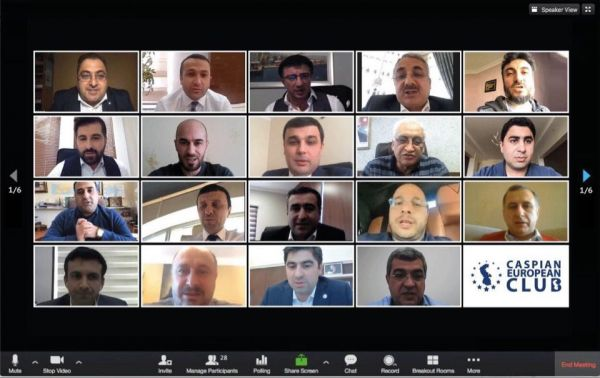 Caspian European Club conducts first general online meeting